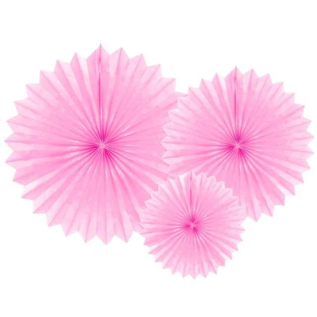 """Rozeta wisząca """"Classic"""", różowy jasny, 20-40 cm, 3 szt"""