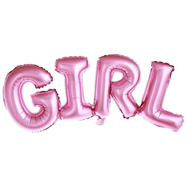 """Balon foliowy """"GIRL"""", różowy, PartyDeco, 29"""" SHP"""