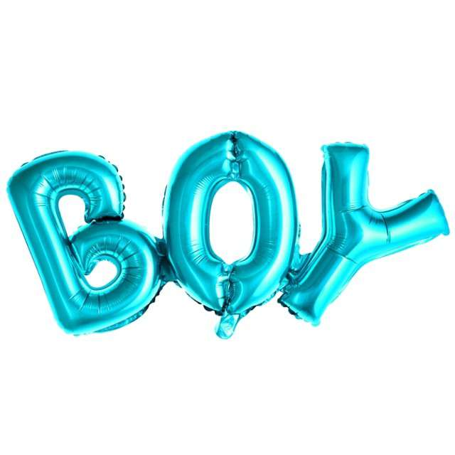 """Balon foliowy """"BOY"""", niebieski, PartyDeco, 26"""" SHP"""