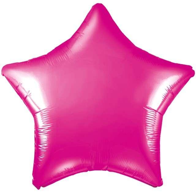 """Balon foliowy """"Gwiazda"""", różowy ciemny, PartyDeco, 19"""" STR"""