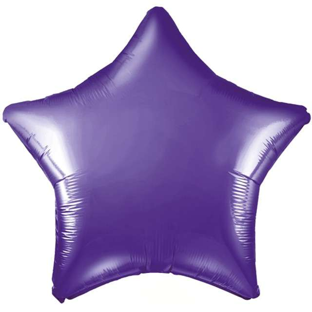 "Balon foliowy ""Gwiazda"", fioletowy, PartyDeco, 19"" STR"