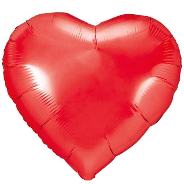 """Balon foliowy """"Serce"""", czerwony, PartyDeco, 18"""" HRT"""