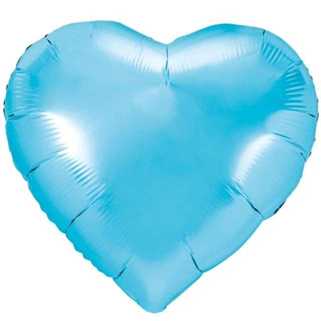 """Balon foliowy """"Serce"""", błękitny, PartyDeco, 18"""" HRT"""