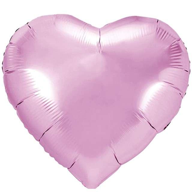 """Balon foliowy """"Serce"""", różowy jasny, PartyDeco, 18"""" HRT"""