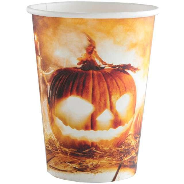 """Kubeczki papierowe """"Dynia Halloween"""", 250 ml, 10 szt"""