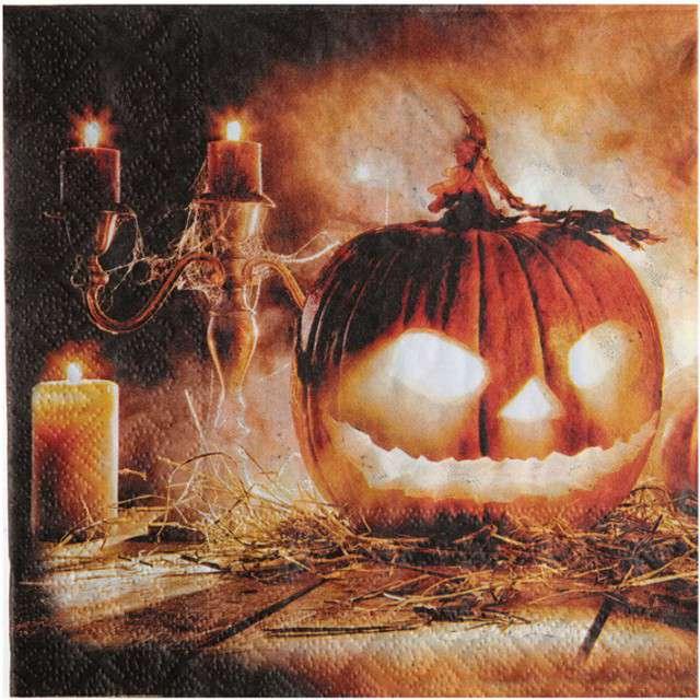 "Serwetki ""Dynia Halloween"", SANTEX, 33 cm, 20 szt"