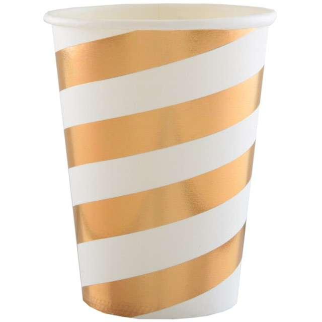 """Kubeczki papierowe """"Premium"""", złote metaliczne, 250 ml, 10 szt"""