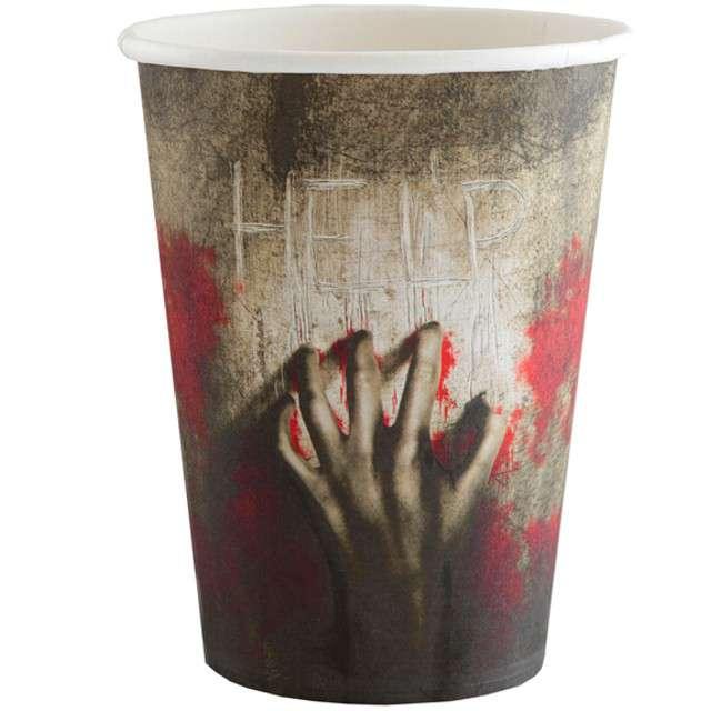 """Kubeczki papierowe """"Zombie Halloween"""", 250 ml, 10 szt"""