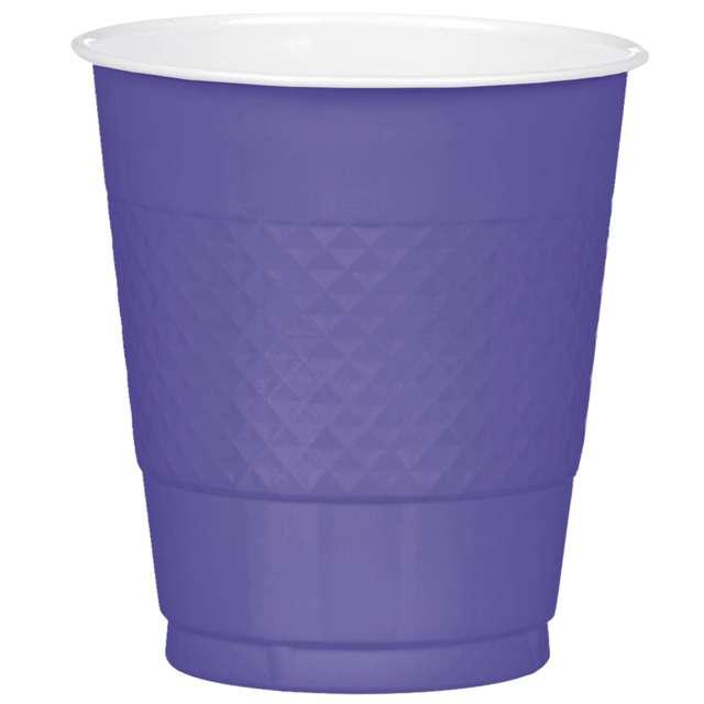 "Kubeczki plastikowe ""Diamond"", fioletowe pastelowe, 355 ml, 10 szt"