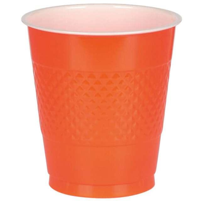 """Kubeczki plastikowe """"Diamond"""", pomarańczowe, 355 ml, 10 szt"""