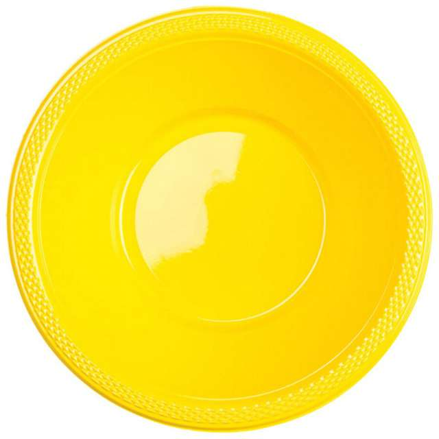 "Miska plastikowa ""Diamond - jumbo pack"", żółta, 355 ml, 20 szt"