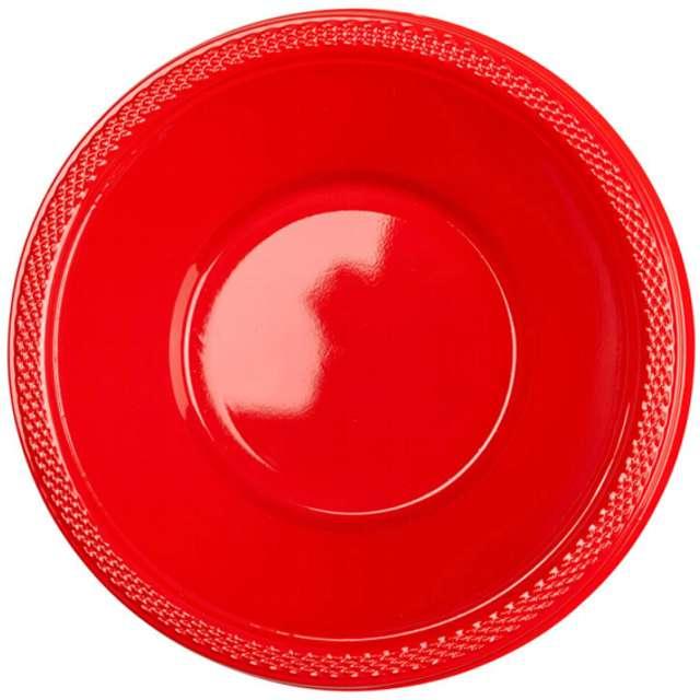 """Miska plastikowa """"Diamond - jumbo pack"""", czerwona, 355 ml, 20 szt"""