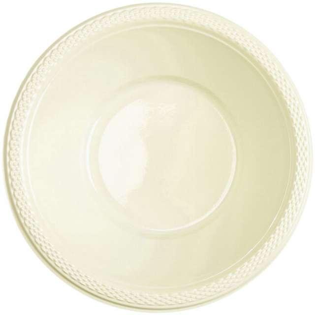 "Miska plastikowa ""Diamond - jumbo pack"", kremowa, 355 ml, 20 szt"