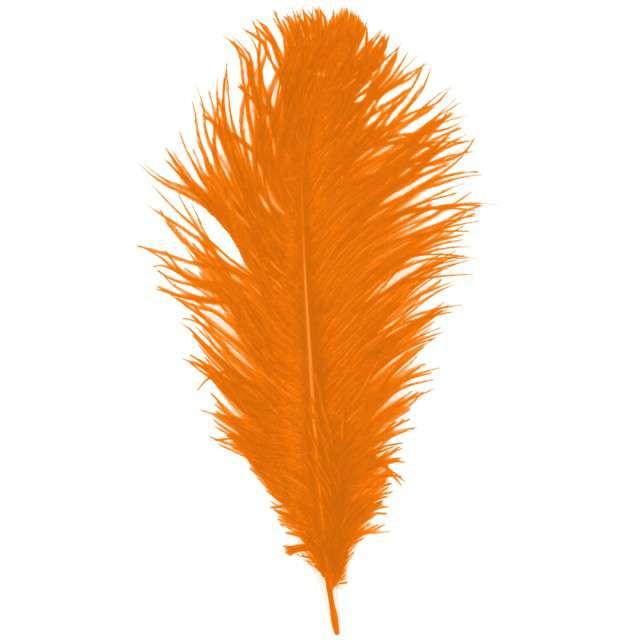 """Dekoracja """"Pióro - Retro Gigant - Lata 20"""", pomarańczowy, GUIRCA"""