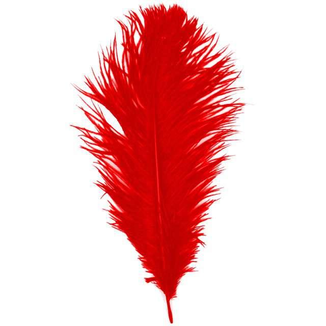 """Dekoracja """"Pióro - Retro Gigant - Lata 20"""", czerwony, GUIRCA"""