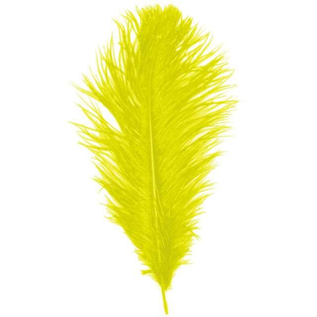 """Dekoracja """"Pióro - Retro Gigant - Lata 20"""", żółty, GUIRCA"""