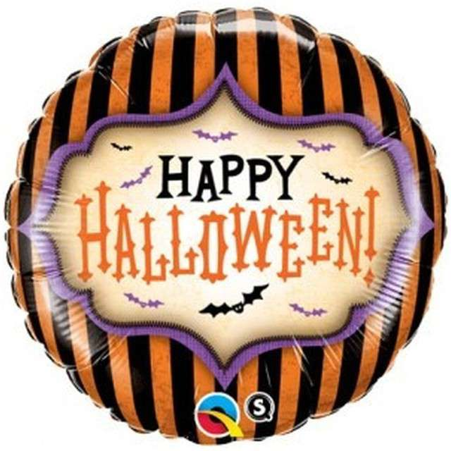"Balon foliowy ""Happy Halloween"", Qualatex, 18"" RND"