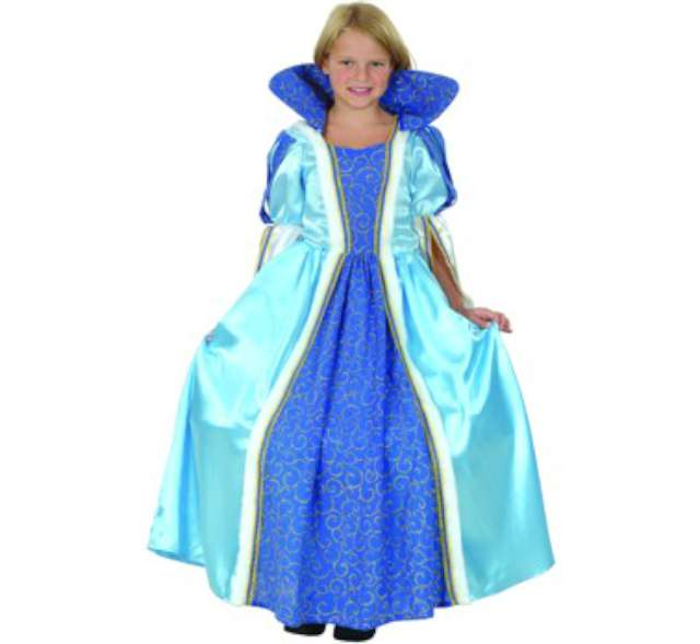 """Strój dla dzieci """"Księżniczka"""", niebieska, Godan, rozm. 110/120 cm"""