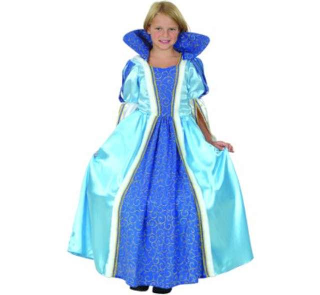 """Strój dla dzieci """"Księżniczka"""", niebieska, Godan, rozm. 120/130 cm"""