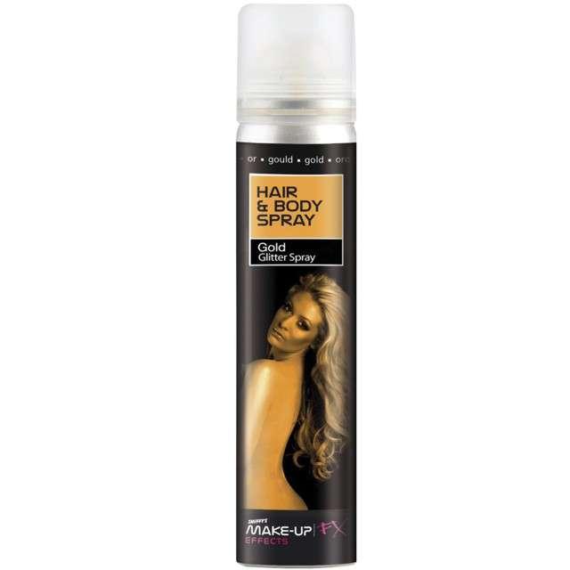 """Lakier do włosów """"Premium"""", złoty, SMIFFYS, 75 ml"""