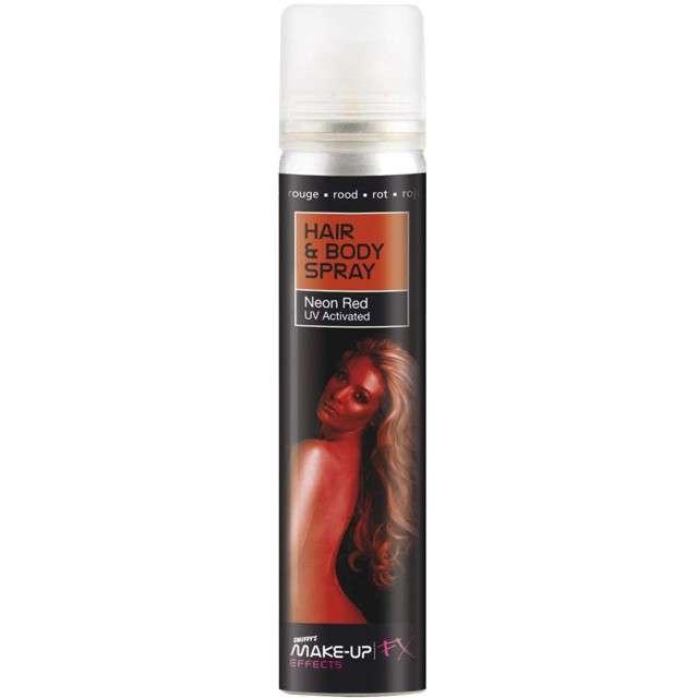 """Lakier do włosów """"Premium"""", czerwony, SMIFFYS, 75 ml"""