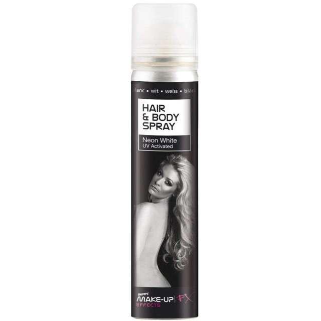 """Lakier do włosów """"Premium"""", biały, SMIFFYS, 75 ml"""