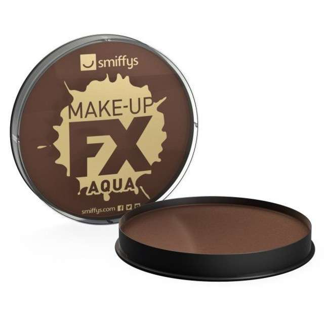 "Make-up party ""Farba do Makijażu"", brązowa ciemna, Smiffys, 16 ml"
