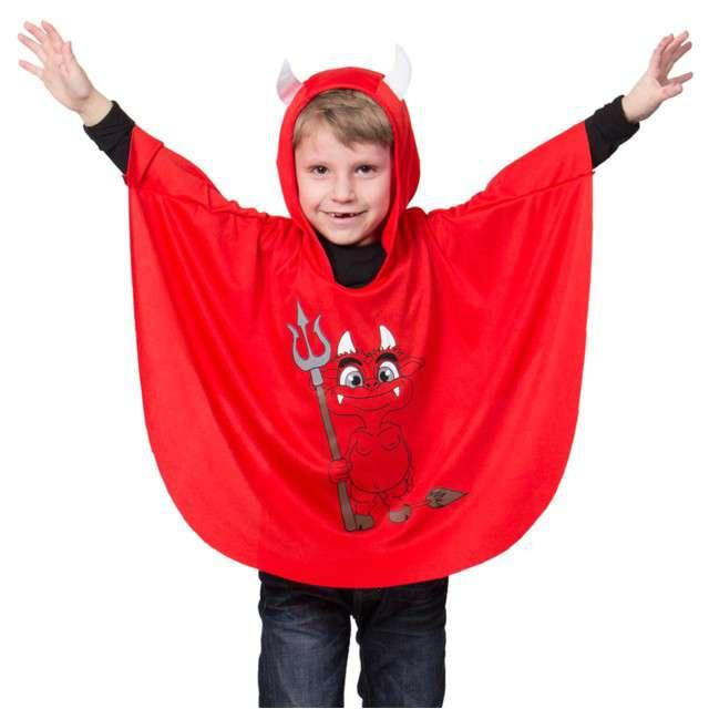 """Strój dla dzieci """"Peleryna Diabełek"""", FOLAT, czerwony, roz. uniw."""
