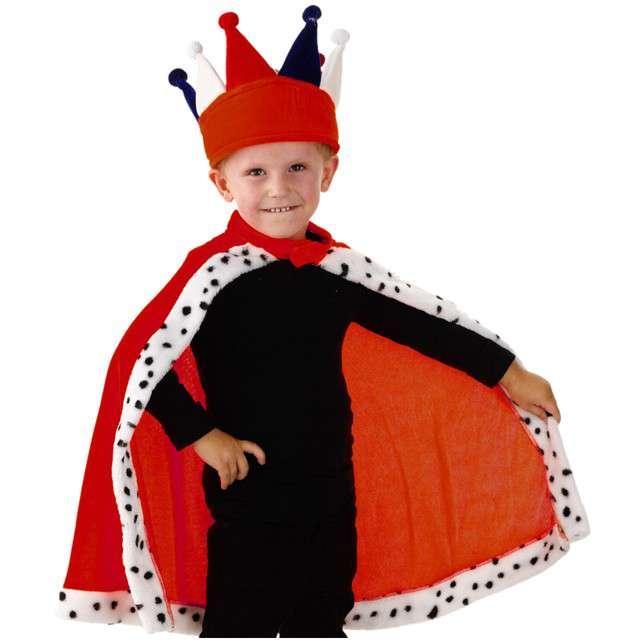 """Strój dla dzieci """"Peleryna Króla"""", FOLAT, czerwona, roz. uniw."""