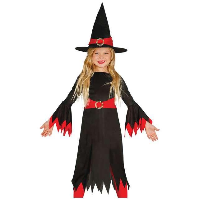 """Strój dla dzieci """"Czerwona Czarownica"""", GUIRCA,  7-9 lat"""