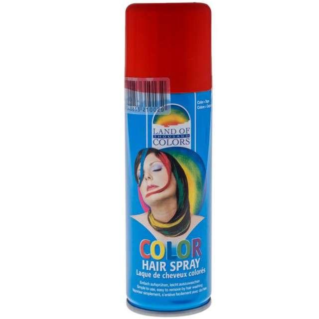 Lakier do włosów, czerwony, FunnyFashion, 125 ml
