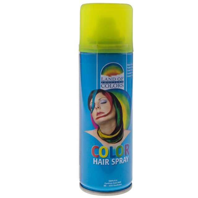 Lakier do włosów, żółty, FunnyFashion, 125 ml