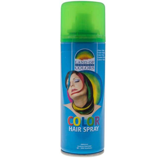Lakier do włosów, zielony, FunnyFashion, 125 ml