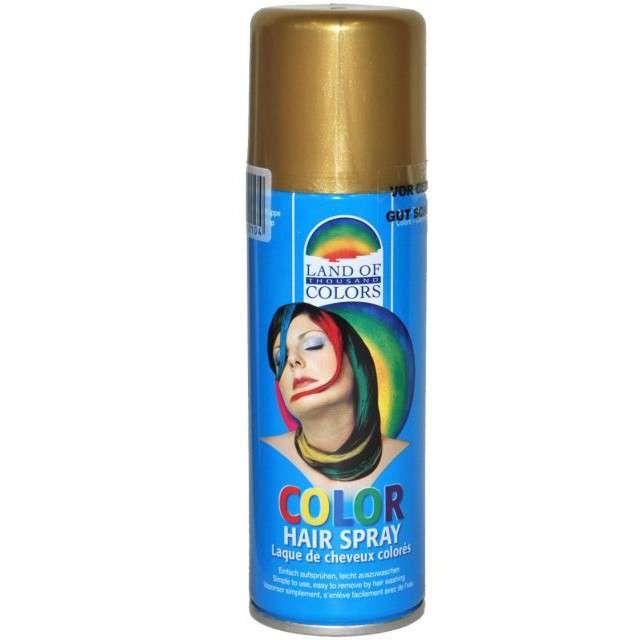 Lakier do włosów, złoty, FunnyFashion, 125 ml