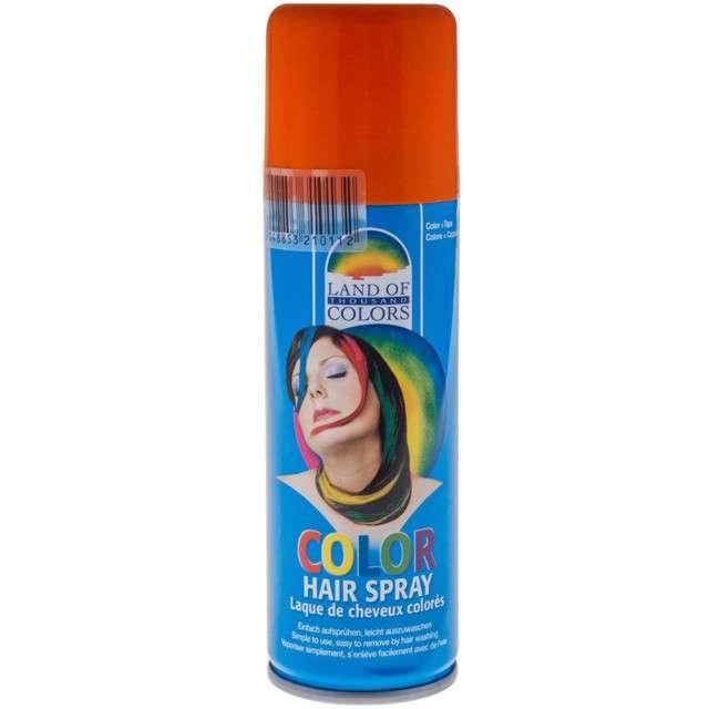 Lakier do włosów, pomarańczowy, FunnyFashion, 125 ml