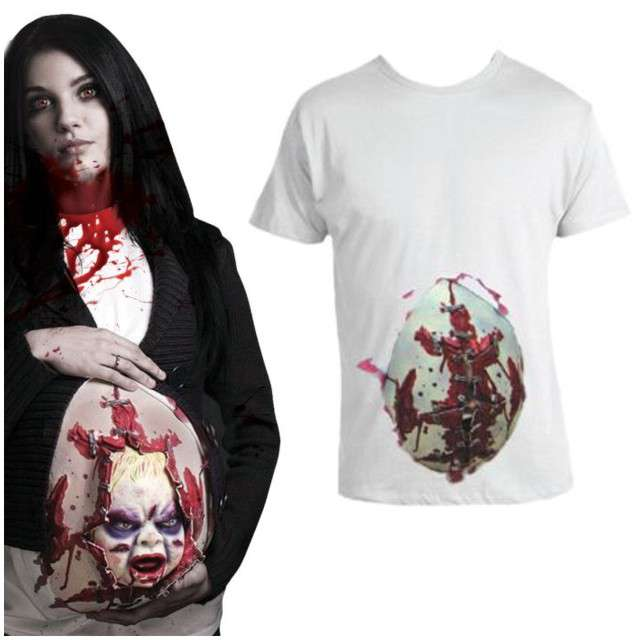 """Strój dla dorosłych """"Koszulka - Przerażające Dziecko"""", Funny Fashion, rozm. M/L"""