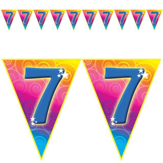 "Baner flagi ""Urodziny 7 Rainbow Swirl"", Funny Fashion, 5 m"