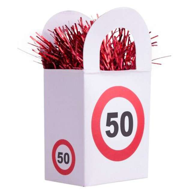 "Obciążnik do balonów ""50 Traffic Birthday"", 170 g"