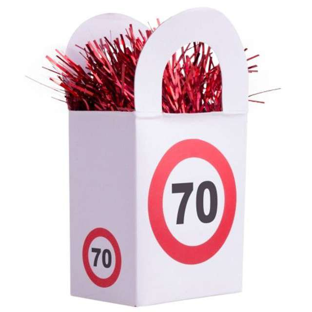 "Obciążnik do balonów ""70 Traffic Birthday"", 170 g"