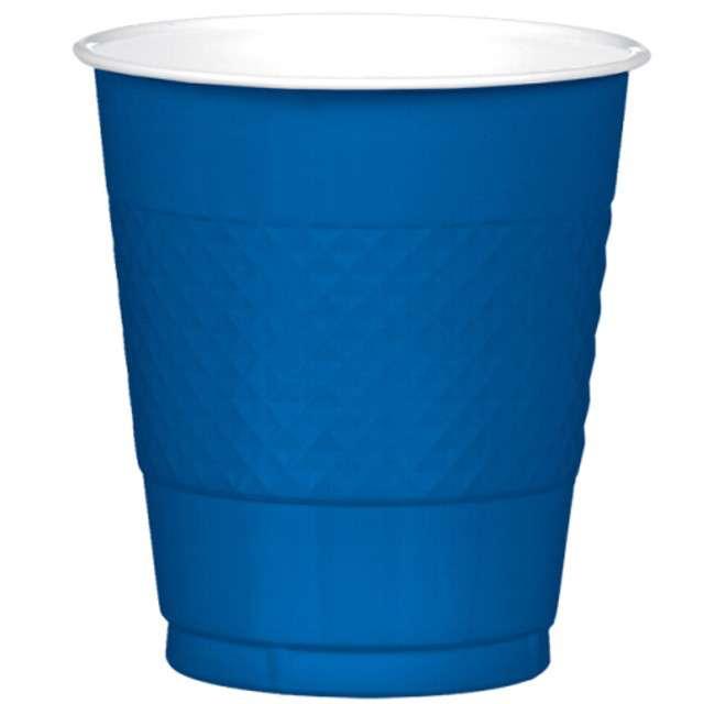 """Kubeczki plastikowe """"Diamond"""", AMSCAN, 355 ml, niebieskie, 20 szt"""