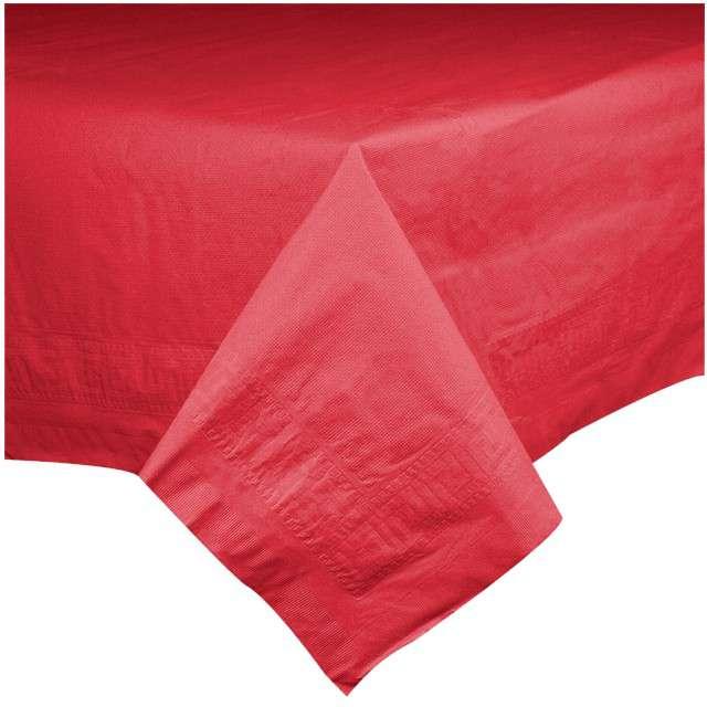 """Obrus papierowy """"Premium"""", czerwony, AMSCAN, 274 x 137 cm"""