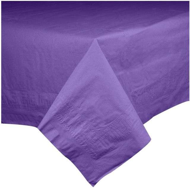 "Obrus papierowy ""Premium"", fioletowy, AMSCAN, 274 x 137 cm"