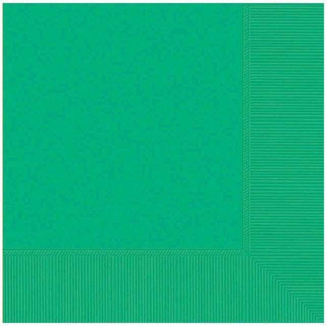 """Serwetki """"Gładkie"""", zielone, AMSCAN, 25 cm, 20 szt"""