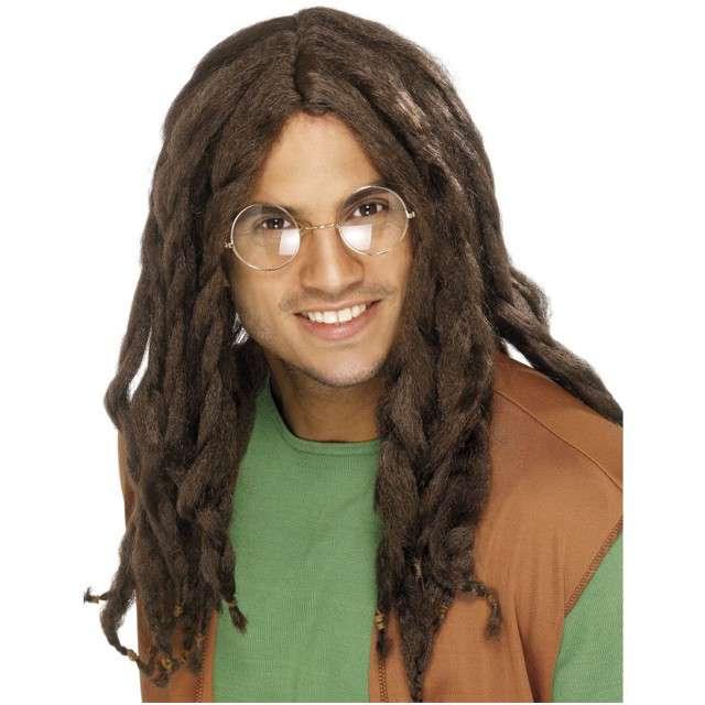 "Peruka party ""Dredy - Bob Marley"", brązowe, SMIFFYS"