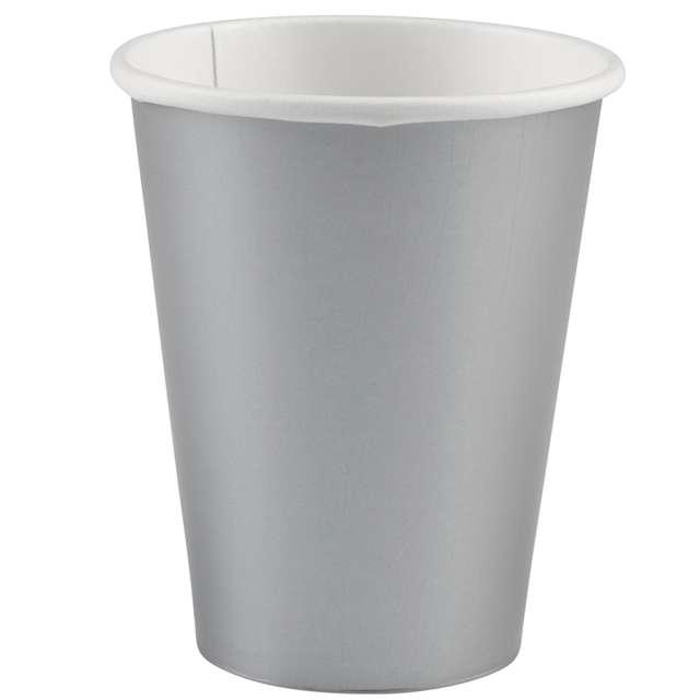 "Kubeczki papierowe ""Premium"", AMSCAN, srebrny, 266 ml, 20 szt"
