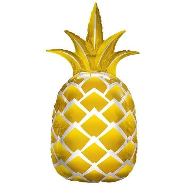 """Balon foliowy """"Ananas"""", złoty, OEM, 32"""""""