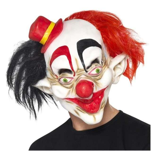 """Maska """"Szalony Klaun z kapeluszem"""", lateksowa, SMIFFYS"""