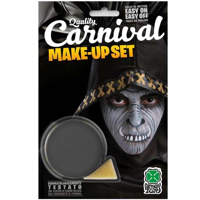 """Make-up party """"Farba do makijażu z gąbeczką"""", szara, Carnival Toys, 10 g"""