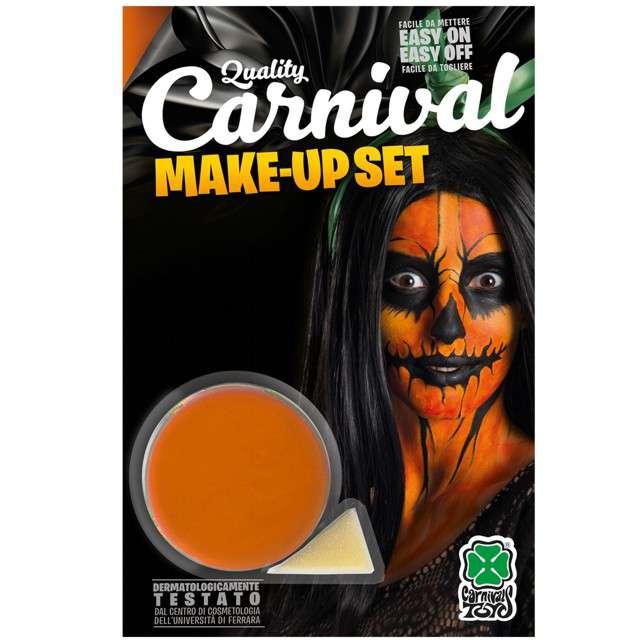 """Make-up party """"Farba do makijażu z gąbeczką"""", pomarańczowa, Carnival Toys, 10 g"""
