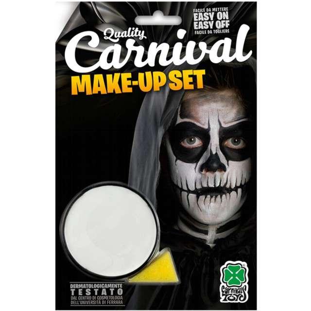 """Make-up party """"Farba do makijażu z gąbeczką"""", biała, Carnival Toys, 10 g"""